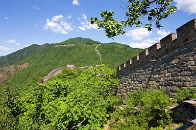 Great Wall At Mutianyu Print by Bridget Coila