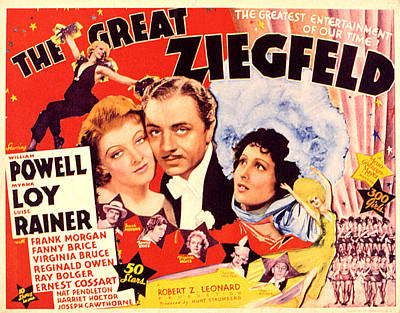 Great Ziegfeld, The, Myrna Loy, William Print by Everett