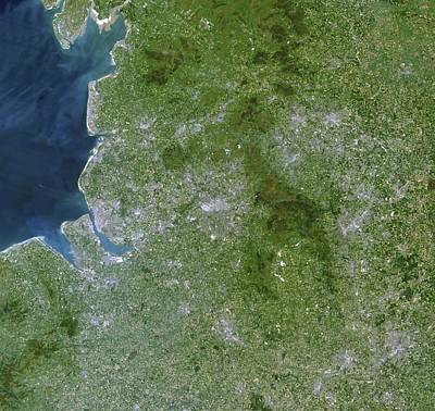 Greater Manchester, Satellite Image Print by Planetobserver