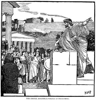 Greek Assembly Print by Granger
