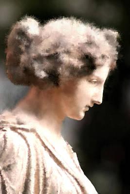 Greek Woman Print by Ilias Athanasopoulos