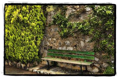 Green Bench Print by Mauro Celotti