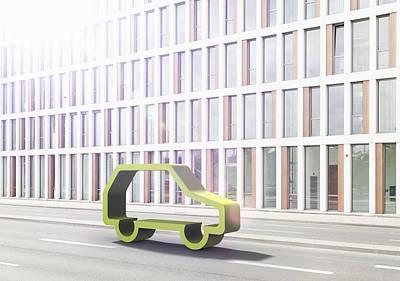 Y120907 Photograph - Green Car by Jorg Greuel