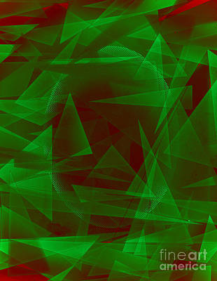 Green Eyed Monster Abstract Print by Michelle Bergersen