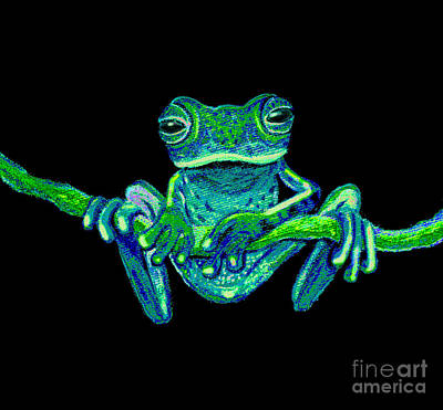 Frogs Mixed Media - Green Ghost Frog by Nick Gustafson