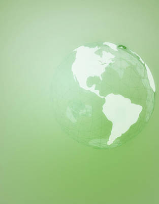 Green Globe Of The Americas Print by Jason Reed