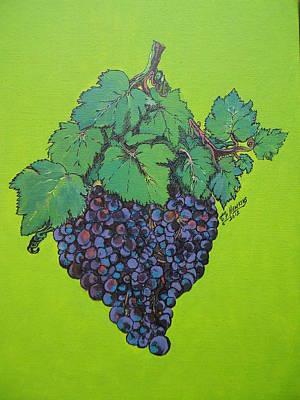 Green Grapes Print by Timothy Hawkins