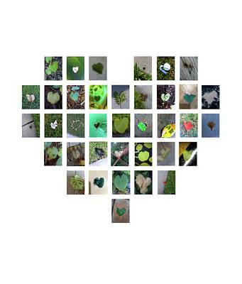 Digital Art - Green Hearts by Boy Sees Hearts
