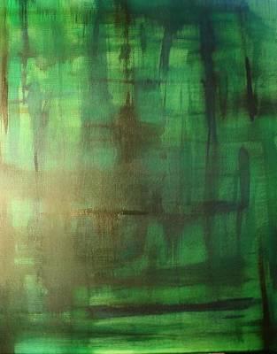 Green Meadow Print by Derya  Aktas