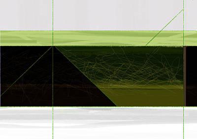 Green Mountain Print by Naxart Studio