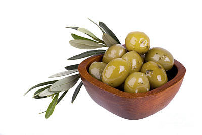 Olive Wood Photograph - Green Olives by Jane Rix