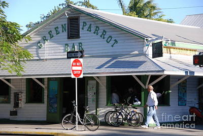 Sign In Florida Photograph - Green Parrot Bar In Key West by Susanne Van Hulst