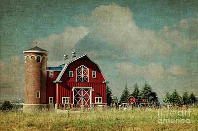 Greenbluff Barn Print by Beve Brown-Clark Photography