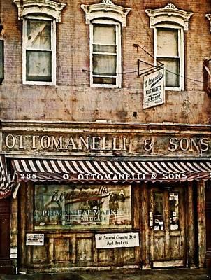 Greenwich Village Meat Market Print by Kathy Jennings