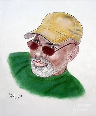 Baseball Art Drawing - Greg Robertson Former Roller Games Skater For The La Thunderbirds by Jim Fitzpatrick