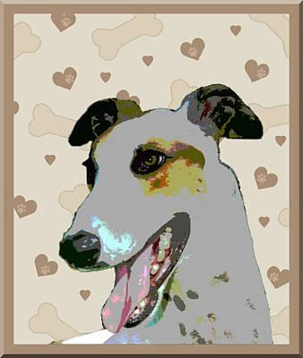 Greyhound Print by One Rude Dawg Orcutt