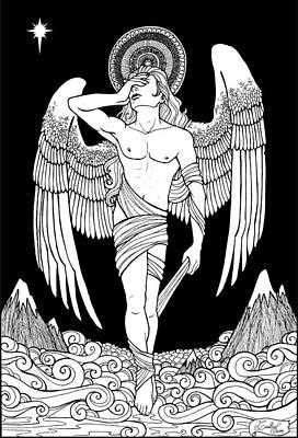 Sadness Drawing - Grieving Angel by Caroline Jamhour