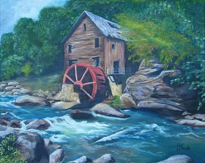 Grist Mill Print by Tersia Brooks