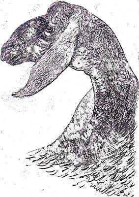 Behind The Scenes Drawing - Head Of Herd by Al Goldfarb