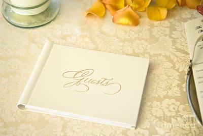 Guestbook On A Table Print by Ned Frisk