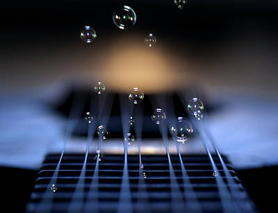 Composite Photograph - Guitar Music by Photo by marianna armata