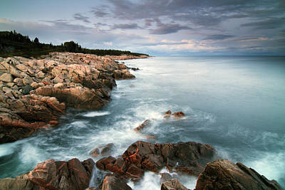 Turquoise Northern Dusky Sea Print by Scott Leslie