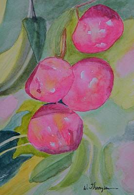 Gulf Ruby Plums Print by Warren Thompson