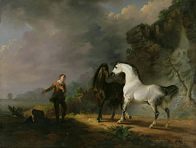 Literature Painting - Gulliver Addressing The Houyhnhnms by Sawrey Gilpin