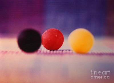 Gumballs On Placemat Print by Christine Perry