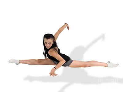 Gymnast Does The Splits  Print by Ilan Rosen