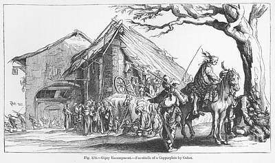 Gypsy Camp, 17th Century Print by Granger