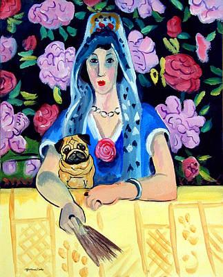 Gypsy Pug Print by Lyn Cook