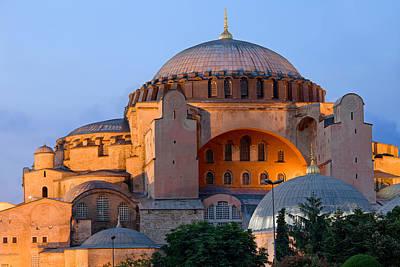 Hagia Sophia At Dusk Print by Artur Bogacki