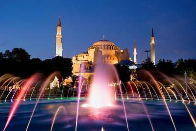Hagia Sophia At Night Print by Artur Bogacki