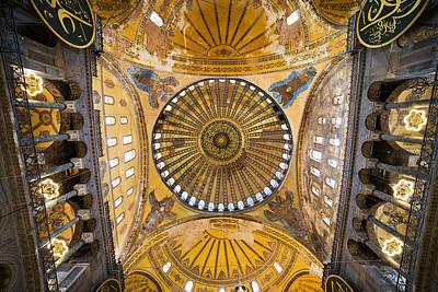 Hagia Sophia Ceiling Print by Artur Bogacki
