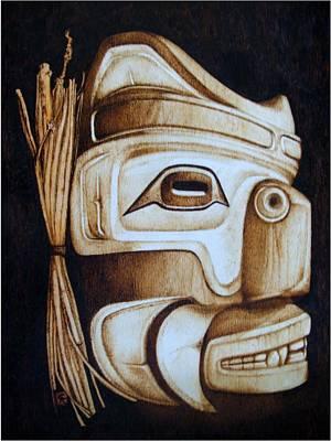 Haida Mask Print by Cynthia Adams