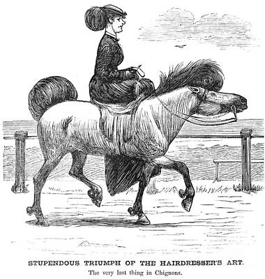 Equestrian Fashion Photograph - Hairstyle, C1865 by Granger
