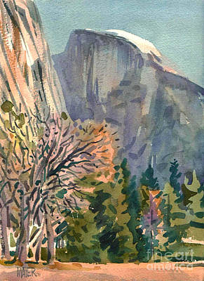 Yosemite National Park Painting - Half Dome by Donald Maier