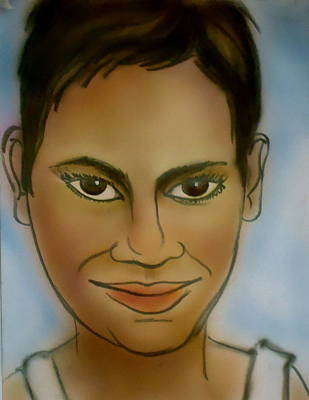 Berry Drawing - Halle Berry by Pete Maier
