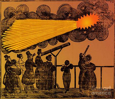Halleys Comet, 1835 Print by Science Source
