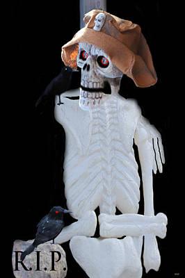 Haunted House Party Mixed Media - Halloween Card  by Debra     Vatalaro