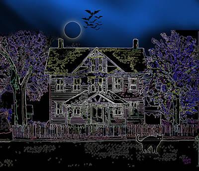 Halloween Haunt Print by Clara Sue Beym