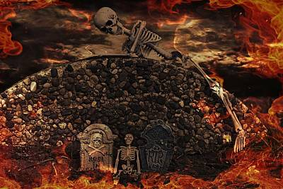 Halloween Horror Print by Maria Dryfhout