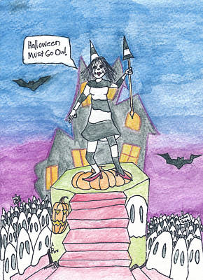 Halloween Must Go On Print by Michael Mooney