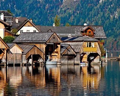 Hallstatt Photograph - Hallstatt Boathouses by David Waldo