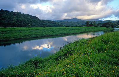 Hanalei Photograph - Hanalei River Reflections by Kathy Yates