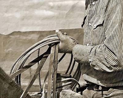 Cowboy Photograph - Hand At Work by Megan Chambers