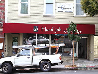 Eureka Valley Photograph - Hand Job At San Franciscos Castro District by Wingsdomain Art and Photography