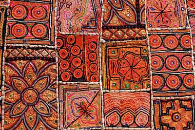 Handicraft Fabric Art Print by Milind Torney