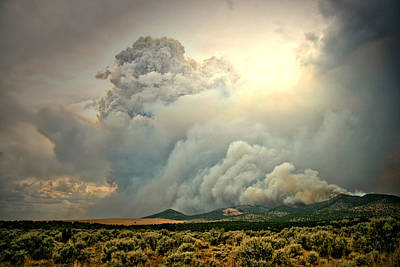 Wildfire Smoke Photograph - Hands Are Tied by Mark  Ross